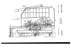 A 1945 patent application drawing of a mobile highway crane is attributed to Inventor, Edward V. Cullen - Click for large image (http://jamesmcgillis.com)