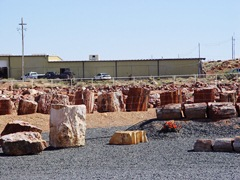 Petrified Wood storage yard and processing plant near Holbrook, Arizona - Click for larger image (http://jamesmcgillis.com)