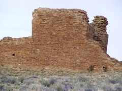West wall of Kin Klizhin Ruin, with viewing port or window on the lower left - Click for larger image (https://jamesmcgillis.com)