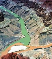 Confluence of the Little Colorado River (Red) and the Colorado River (Green) - Click for larger image (http://jamesmcgillis.com)