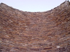 Inside view looking up in the Tower Kiva at Kin Klizhin, Chaco Canyon, New Mexico - Click for larger image (https://jamesmcgillis.com)