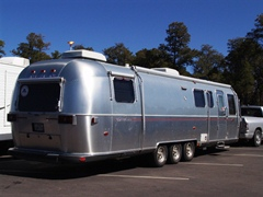 Even an aerodynamic, well constructed travel trailer like the Airstream Classic Limited 34, shown here at Grand Canyon Village, Arizona could provide a mobile summer cottage along vulnerable mid-Atlantic coastal plains - Click for larger image (http://jamesmcgillis.com)