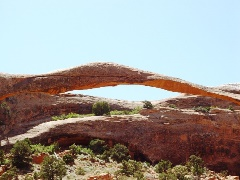 Landscape Arch in full sunlight, Devils Garden Trail, Arches National Park, Moab, Utah - Click for larger image (http://jamesmcgillis.com)