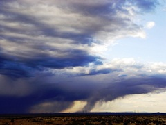 Virga streams down ahead of a desert thunder shower near Snowflake, Arizona - Click for larger image (http://jamesmcgillis.com)