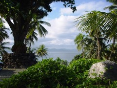 A view of Natewa Bay from the entrance to Lomalagi Resort, Vanua Levu, Fiji - Click for larger image (http://jamesmcgillis.com)