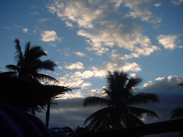 White Clouds Fading, Over Lomalagi Resort, Vanua Levu, Fiji Islands - Click for larger image (http://jamesmcgillis.com)