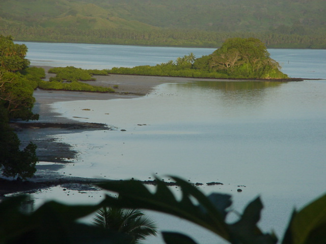 Morning Light on Natewa Bay, Vanua Levu, Fiji in August 2001 - Click for larger image (http://jamesmcgillis.com)
