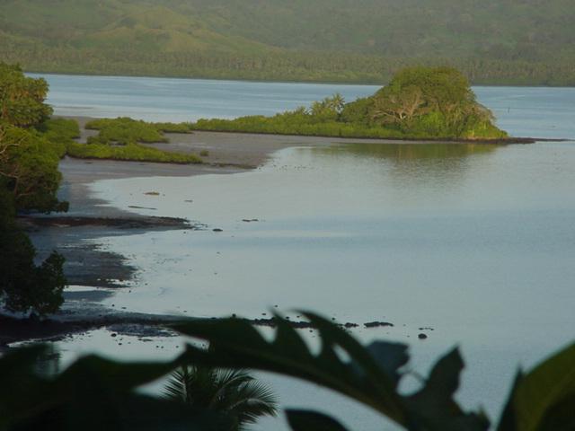 Morning Light on Natewa Bay, Vanua Levu, Fiji in August 2001 - Click for larger image (https://jamesmcgillis.com)