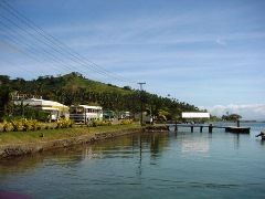 A view of the coastal highway from the Copra Shed Marina, Savusavu, Vanua Levu, Fiji - Click for larger image (http://jamesmcgillis.com)