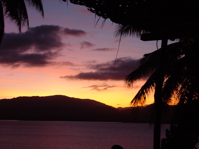 Sunset View of Natewa Bay, From Lomalagi Resort, Vanua Levu, Fiji - Click for larger image (http://jamesmcgillis.com)