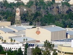 Over the top of Universal Studios, the iconic Warner Bros. Studios sound stages and water tower dominate the scene - Click for larger image (http://jamesmcgillis.com)