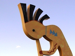 Searching for water in the Arizona desert, Kokopelli plays his magic flute - Click for larger image (http://jamesmcgillis.com)