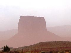 A regional dust storm in Monument Valley, Arizona/Utah - Click for larger image (http://jamesmcgillis.com)