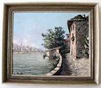 The Costantino Proietto original oil painting owned by the Allen Family - location unknown - Click for larger image (http://jamesmcgillis.com)