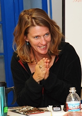 Amy Irvine, author of 'Trespass' and 'Desert Cabal' at the 2008 Confluence Conference in Moab, Utah - Click for larger image (http://jamesmcgillis.com)