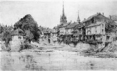 "The ""Little Venice on the Ellerbach"" area of Bad Kreuznach, in an old photograph - Click for larger image (http://jamesmcgillis.com"