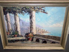 Alternate view of the Bennett Family C.Proietto painting of the Amalfi Coast - Click for larger image (http://jamesmcgillis.com)