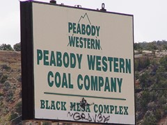 The Peabody Western Coal Company 'Black Mesa Complex' removed their roadside sign in shame years before the coal mine ceased providing coal to the Navajo Generating Plant in Paige, Arizona - Click for larger image (http://jamesmcgillis.com)