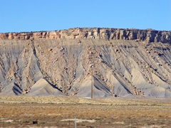 Tar sands in the Book Cliffs are evident in this photo taken on U.S. Highway 191 North, near Crescent Junction, Utah - Click for larger image (http://jamesmcgillis.com)