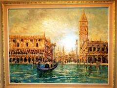Costantino Proietto original oil painting of St. Mark's Basilica at sunrise, Venice Italy - Click for larger image (http://jamesmcgillis.com)