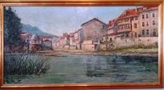 """Bad Kreuznach"", by 20th century artist Costantino Proietto - Click for larger image (http://jamesmcgillis.com"
