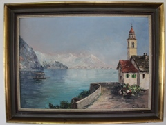 2013 photo of the Allen Family Lago Maggiore oil painting by C.Proietto - Click for larger image (http://jamesmcgillis.com)