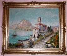 Painting of Lago Maggiore, Ascona by Costantino Proietto - Click for larger image (http://jamesmcgillis.com)