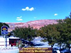 Webcam at the Best Western Canyonlands Inn Main Street Suites in Downtown Moab, Utah - Click for larger image (http://jamesmcgillis.com)