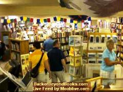 The MoabBooks.com webcam captures customers browsing at Back of Beyond Bookstore in Moab, Utah - Click for larger image (http://jamesmcgillis.com)