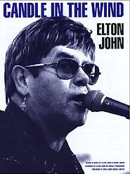 "Original sheet music cover from Elton John song,""Candle In The Wind"" (http://jamesmcgillis.com)"