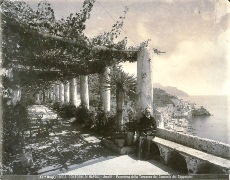 A view of the Capuchin Convent at Amalfi (ca. 1904), by Italian photographer Carlo Brogi (1850-1925 - Click for larger image (https://jamesmcgillis.com)