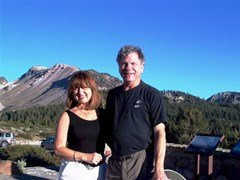 Spokesmodel Carrie McCoy and author Jim McGillis at Mammoth Mountain in summer 2012 - Click for larger image (https://jamesmcgillis.com)