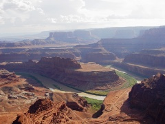 "In the right foreground, ""Thelma & Louise Mesa"", as seen from Dead Horse Point, near Moab, Utah - Click for larger image (http://jamesmcgillis.com)"