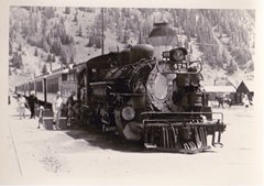 Locomotive No. 478 at rest in Silverton, Colorado in 1965 - Click for larger image (http://jamesmcgillis.com)