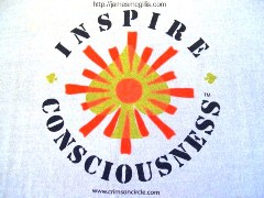 """Inspire Consciousness"" t-shirt from the 2007 Quantum Leap Celebration in Taos, New Mexico - Click for larger image (http://jamesmcgillis.com)"