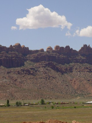 The Moab Rim, viewed from Pueblo Verde Development (http://jamesmcgillis.com)
