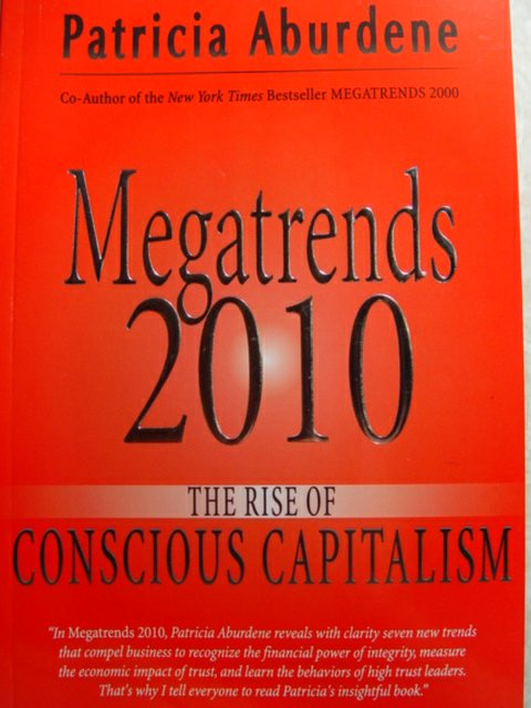 Megatrends 2010 Book Cover, by author Patricia Aburdene (http://jamesmcgillis.com