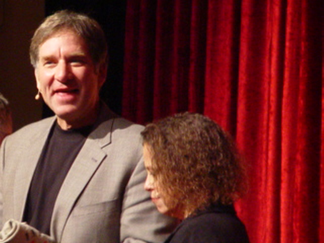 Geoffrey Hoppe & Wife, Linda Benyo - On Stage at the Quantum Leap Celebration in Taos, New Mexico in September 2007 - Click for larger image (http://jamesmcgillis.com)