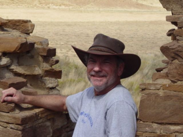 Jim McGillis at Kin Klizhin, Chaco Canyon, New Mexico in 2007 - Click for larger image (http://jamesmcgillis.com)
