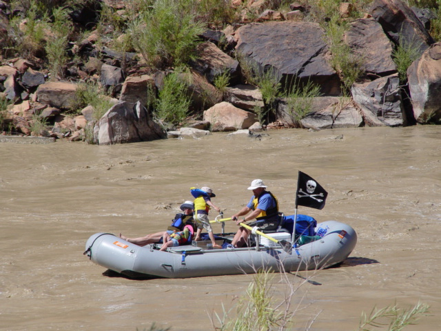 Rafters on the Colorado River, near Moab, Utah (http://jamesmcgillis.com)
