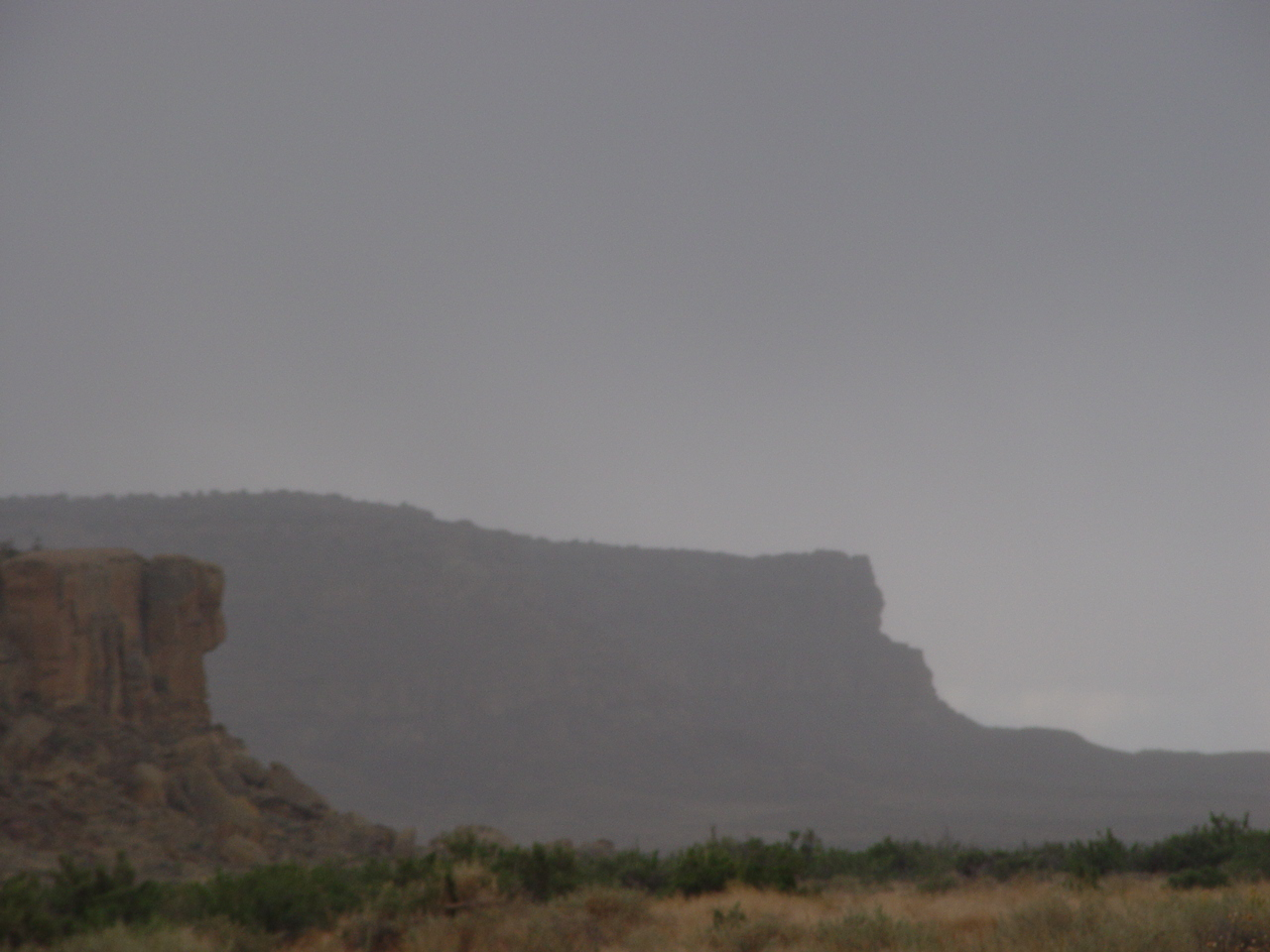 A late afternoon dust storm turns into a rainstorm at Chaco Canyon, New Mexico (http://jamesmcgillis.com)