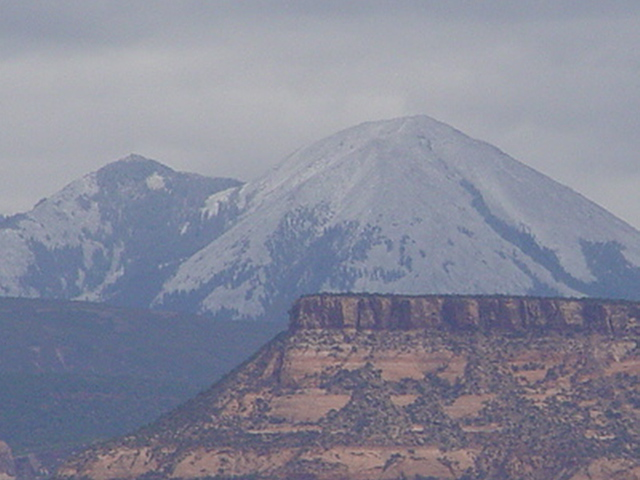 Snow On the La Sal Range, Moab, Utah (http://jamesmcgillis.com)