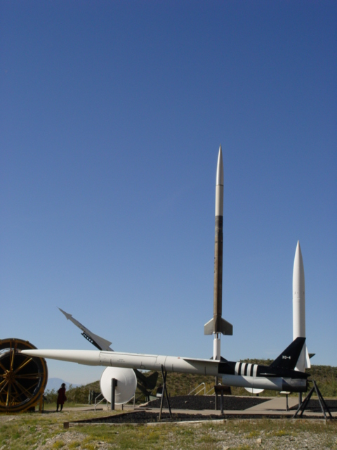 Four different US Missiles from the 1960s and 1970s on display at the Museum of Space History, Alamogordo, New Mexico (http://jamesmcgillis.com)