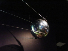 Original 1950's USSR Sputnik Satellite on display at the Museum of Space History, Alamogordo, New Mexico - Click for larger image (http://jamesmcgillis.com)