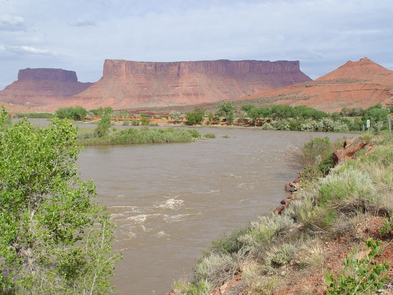 Colorado River at peak flow, near Castle Valley Utah (http://jamesmcgillis.com)