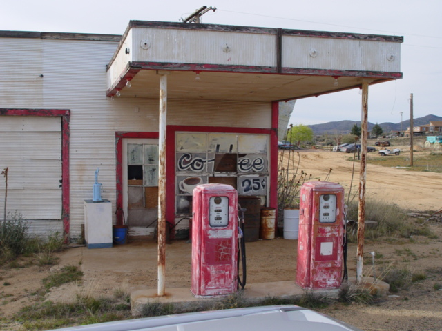 Abandoned desert gas station, where signage indicates that coffee was only twenty-five cents - Click for larger image (http://jamesmcgillis.com)