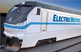 Artist's rendering of a new Electro-Motive Diesel-electric locomotive similar to those recently purchased by Metrolink - Click for larger image (http://jamesmcgillis.com)