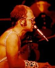 Elton John Live at the Hollywood Bowl, September 7, 1973 - Photo courtesy Harvey Jordan - Click for larger image (http://jamesmcgillis.com)