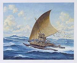 Traditional Fijian Warship, known as a Takia (https://jamesmcgillis.com)