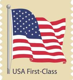 USPS - USA First-Class Flag Stamp 2007 - Click for larger image (http://jamesmcgillis.com)